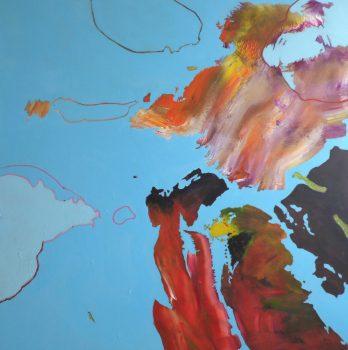 ARA ,acrylique sur toile 100 x 100